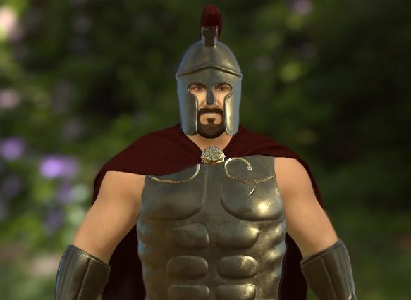 3D модель воина