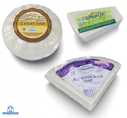 Визуализация сыров в термопленке для каталога