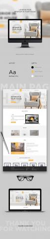 Дизайн Landing Page Интерьера