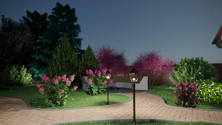 Визуализация ландшафтный дизайн, 24 сотки, г. Омск