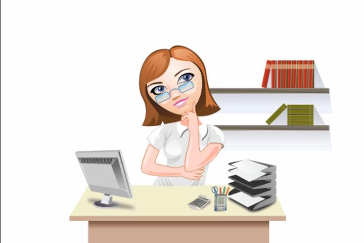 Девушка - офисный работник