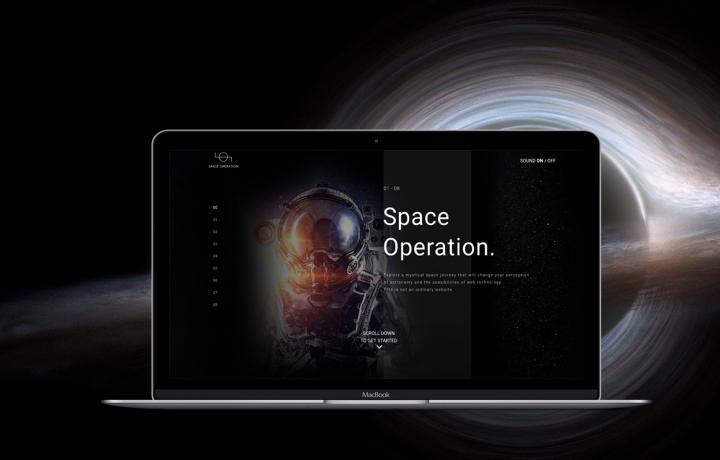 Space Operation Промо сайт