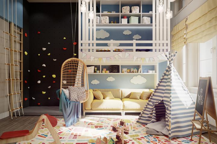 Дизайн и визуализация детской комнаты