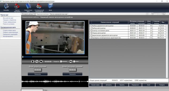Программа по видео нормированию труда