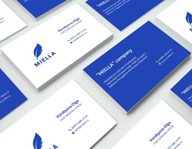 """дизайн визитки """"Miella"""""""