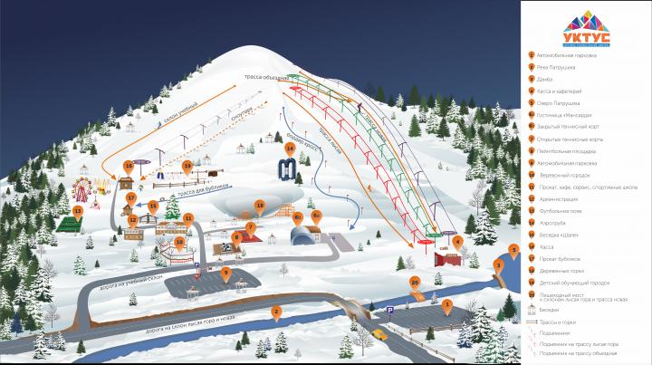 Карта горнолыжной зоны отдыха