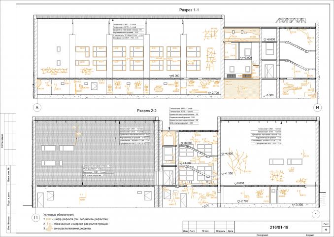 Техническое обследование здания, карта дефектов
