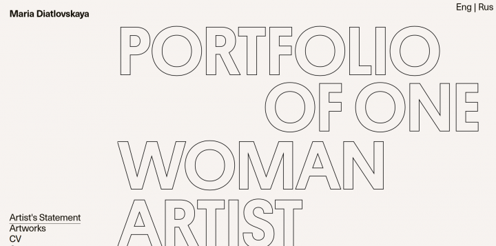 Portfolio of one woman artist