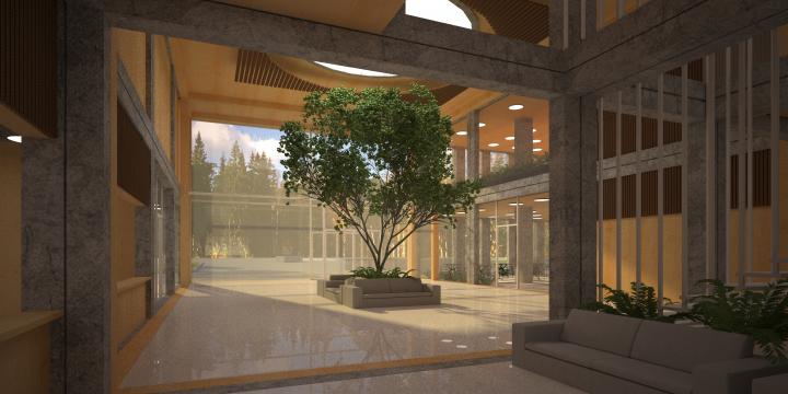 Интерьер фойе здания зрелищного назначения - Мультиплекс