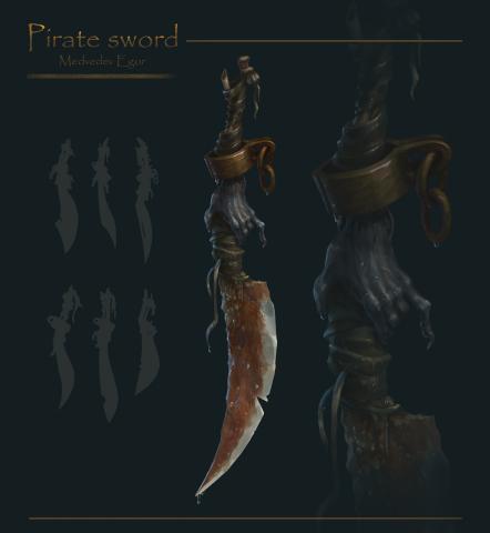 концепт пиратского меча
