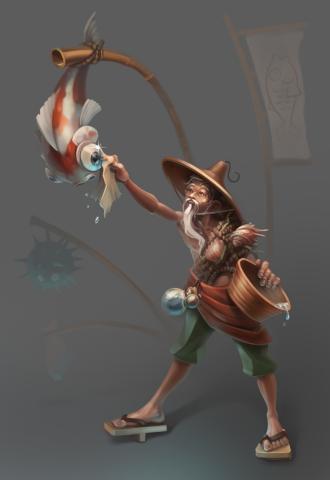 концепт рыбака