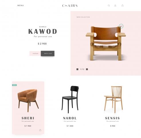 """сайт по продаже мебели """"chairs"""""""