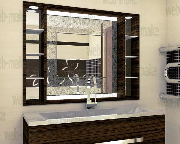 Визуализация матового рисунка на зеркале