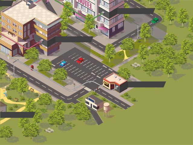 Отрисовка города в векторе