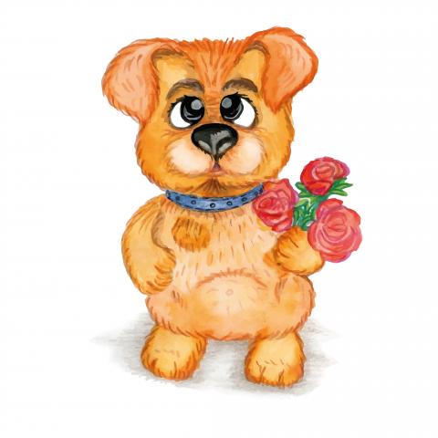 Иллюстрация собачка
