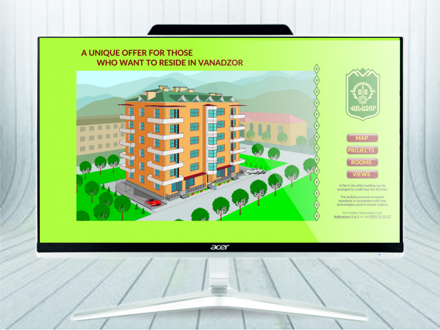 Дизайн флеш сайта жилого дома
