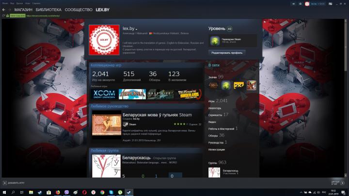 Переводчик Steam