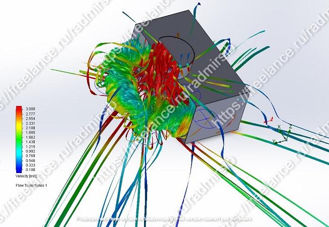 CFD-моделирование движения воздуха через ВР