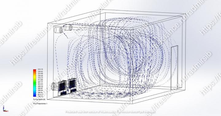 CFD-моделирование течения воздуха в помещении