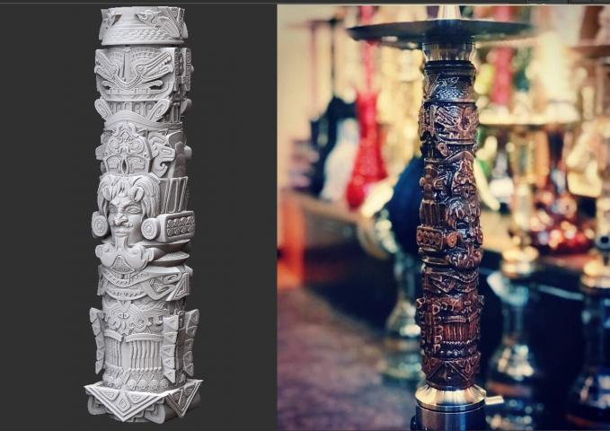 Aztec totem (for hookah)