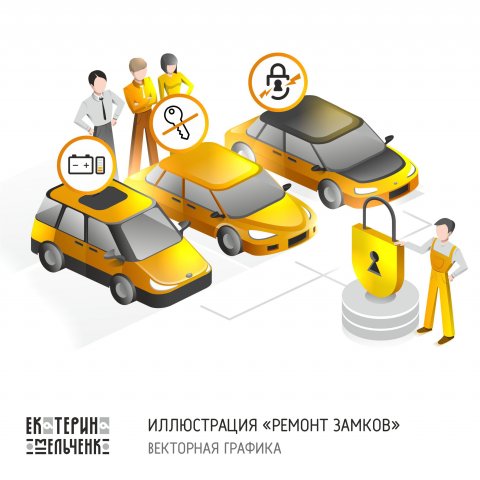 """Инфографика для сайта """"Ремонт замков"""" - услуги для авто"""