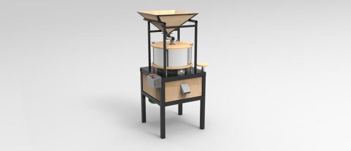 Домашняя мельница для производства цельнозерновой муки.