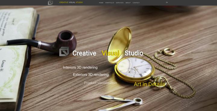 Сайт Creative Visual Studio