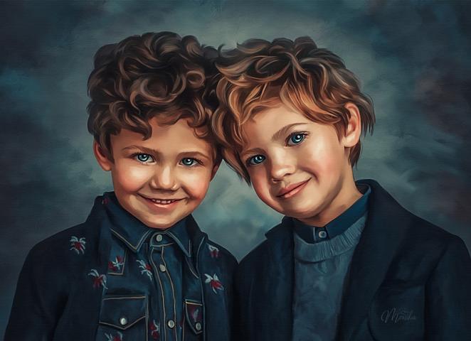 Digital painting (портрет печать на холсте)