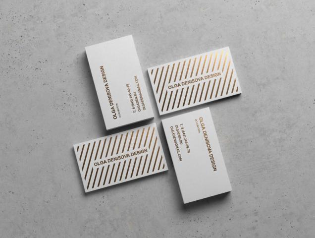 Дизайн персональной визитки