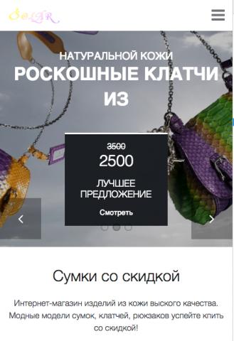 Интернет-магазин по продаже одежды сумок под Android