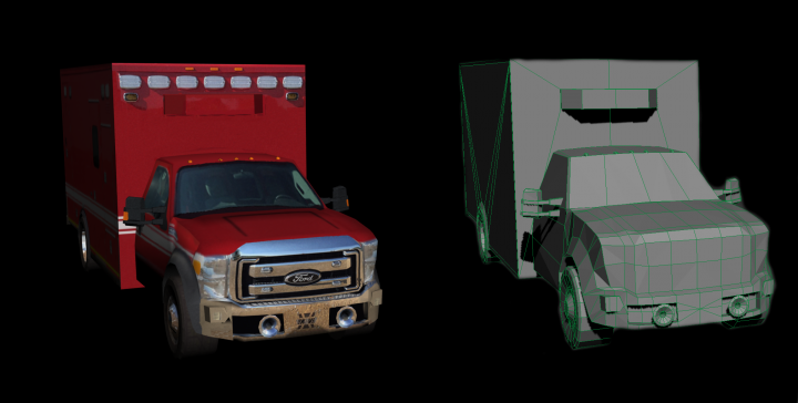 FORD F550 (LowPoly)