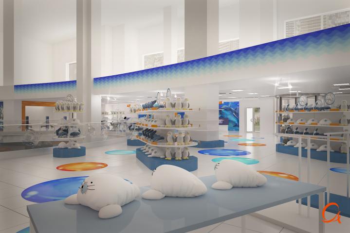 Москвариум на ВДНХ входная группа и магазин игрушек  316м2 В Мос