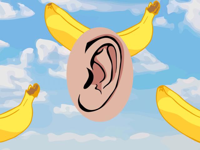 Бананы в ушах
