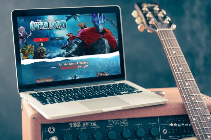 Дизайн игрового сайта по продаже Overlord 3