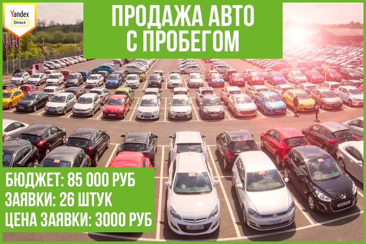 Кейс: продвижение услуг продажи автомобилей с пробегом (Рязань)