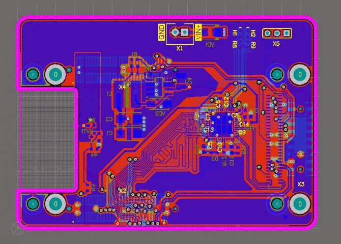 Плата-адаптер для Piksi Multi с контроллером Ethernet