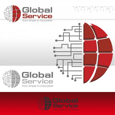 Разработка логотипа и фирменного стиля для IT-компании,г. Алматы