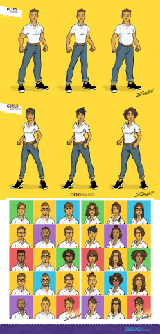 Персонажи для комикс проекта