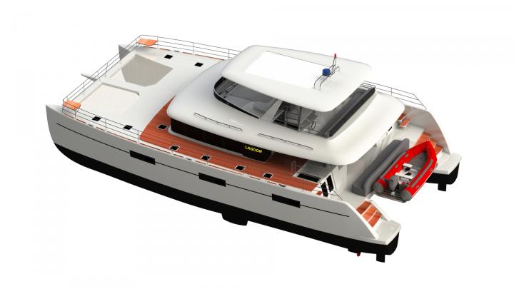 Модель катамарана Lagoon 630