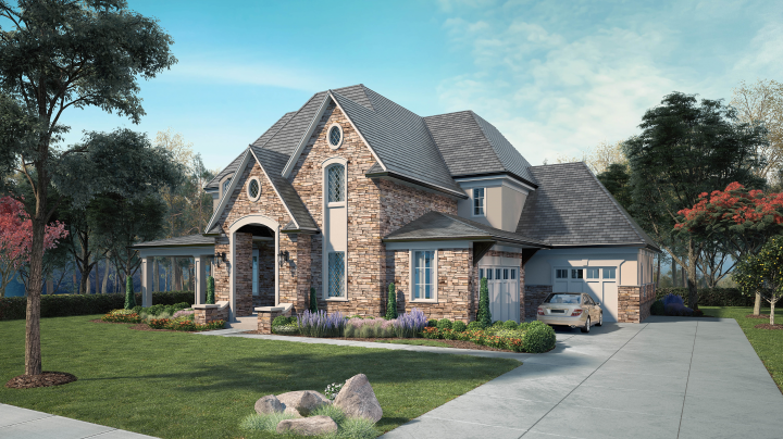 CHICAGO HOUSE EXTERIOR RENDERINGS