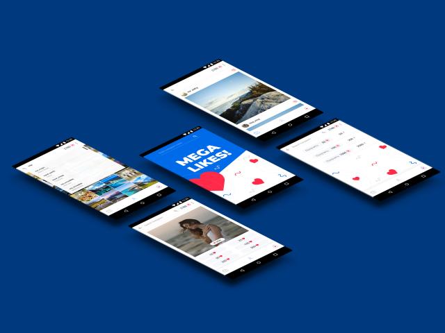 Дизайн мобильного приложения для Android Mega_likes