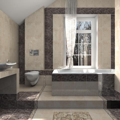 Интерьер ванных комнат и душевых