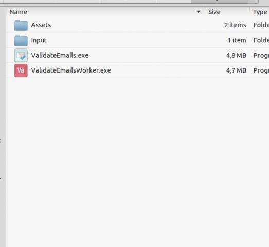 Программа для проверки списка почтовых ящиков