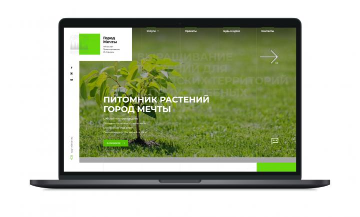 Верстка сайта gorodmechta.com