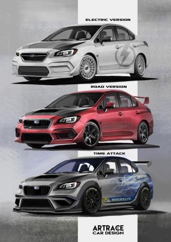 Subaru Impreza STI Artrace styling