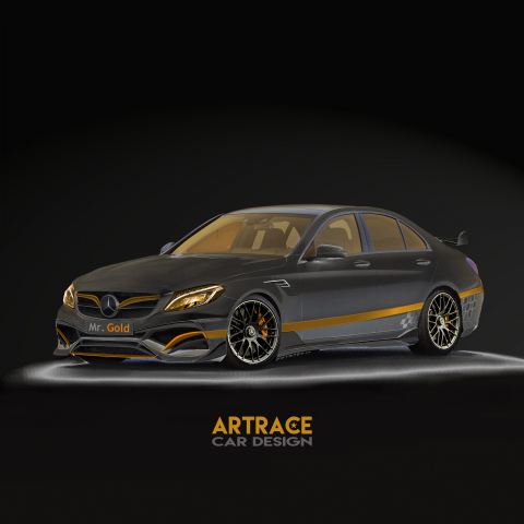 Mercedes-Benz C63 Artrace Mr GOLD