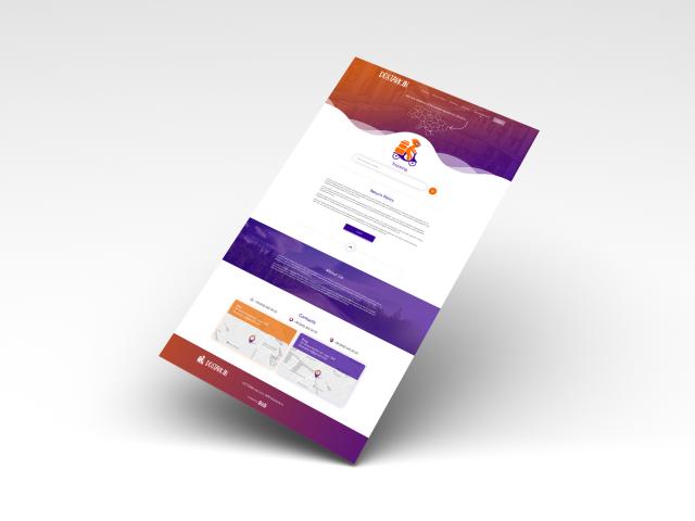 Landing Page для сервиса доставки