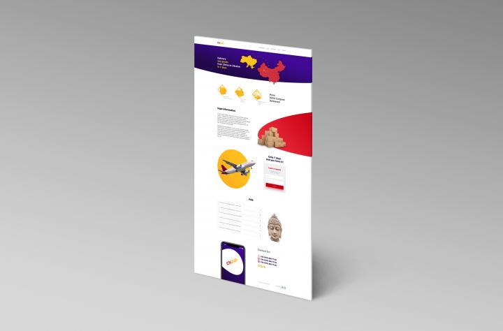 Дизайн Landing Page для службы доставки