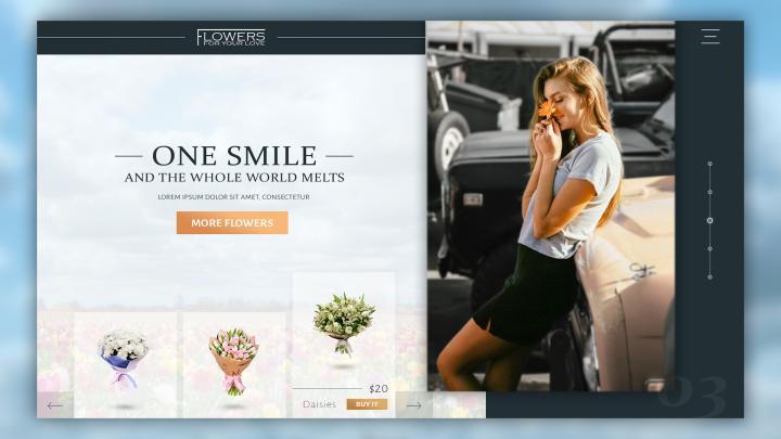 Сайт по продаже полевых цветов