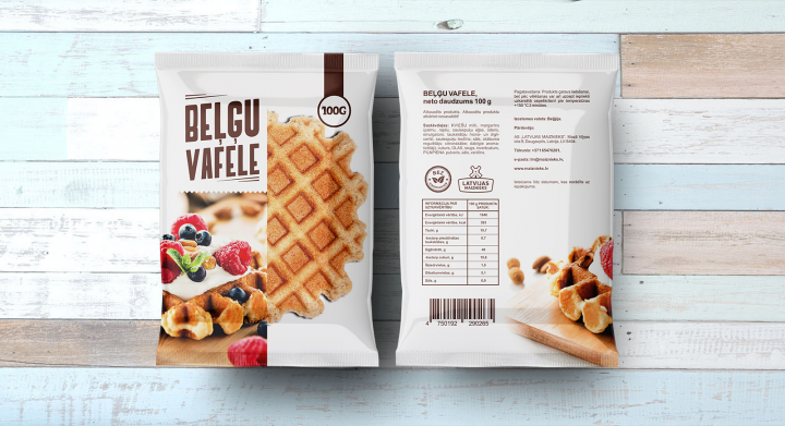 Бельгийские вафли - упаковано